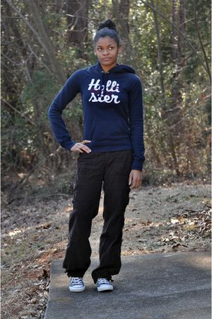 Old Navy pants - Converse shoes - hollister sweater