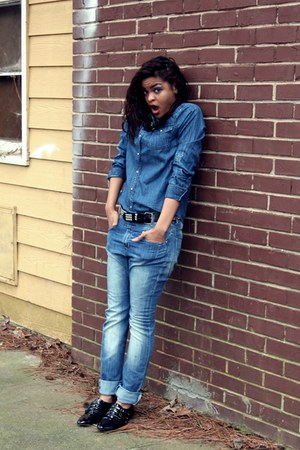 JCPenney shirt - H&M jeans - Aldo flats