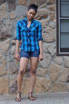 Old Navy shorts - Shoe Land shoes - delias shirt