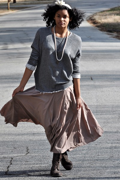 ajwright boots - Lynns Inc necklace - Forever 21 sweater - Ambercrombie & Fitch