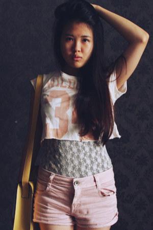 Topshop top - Zara shorts - Zara bodysuit