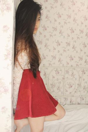Stylenanda skirt - Forever 21 bodysuit