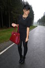 Red-accessories-black-h-m-dress-black-bullboxer-shoes-white-accessories