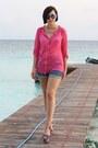 Primark-shirt-h-m-shorts-primark-sunglasses-steve-madden-wedges