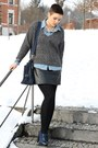 Charcoal-gray-zara-sweater-navy-glossy-box-style-bag-black-vintage-skirt