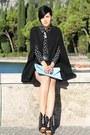 Black-shoes-light-blue-clutch-bag-black-leather-vintage-skirt