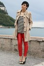 Beige-primark-coat-black-ohmyfrock-shirt-red-leather-3-suisses-pants
