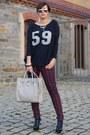 Romwe-shirt-primark-bag-primark-pants-primark-heels