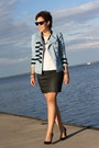 Military-noname-jacket-peplum-romwe-shirt-wayfarer-ray-ban-sunglasses