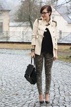 military lucky star coat - Primark shirt - camoflage no-name pants