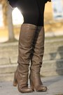 Vintage-dress-bruno-premi-boots-hallhuber-bag