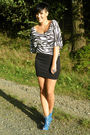 White-primark-shirt-black-vintage-skirt-blue-via-ebay-shoes