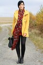 Black-asos-boots-mustard-popcouture-coat-ruby-red-3-suisses-sweater
