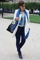 Primark coat - New Yorker boots - Primark jeans - Zara shirt