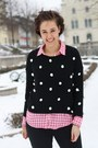 Bobble-noname-sweater-plaid-h-m-shirt