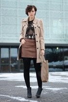 H&M boots - trenchcoat Primark coat - tiger lucky star shirt - Hallhuber bag
