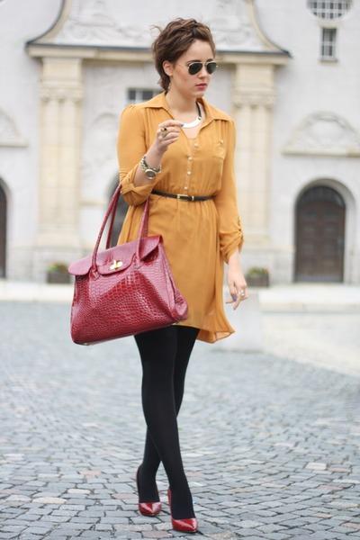 Primark dress - lucia tommasi bag - Jumex heels
