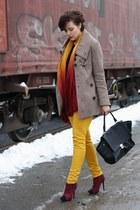 Primark boots - SOliver coat - H&M shirt - Primark pants