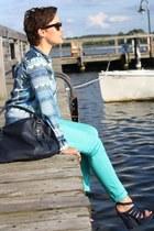 paisley Zara shirt - Primark pants - heels