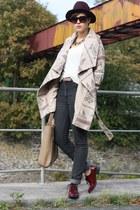 Takko coat - Cheap Monday jeans - H&M hat - yest shirt - Tamaris flats