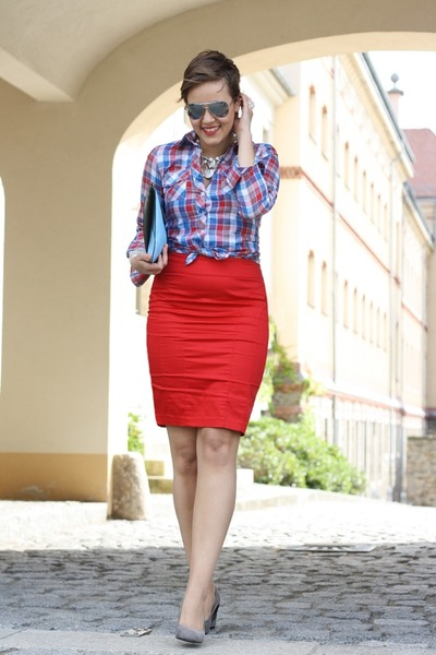 Plaid shirt pencil skirt – Modern skirts blog for you