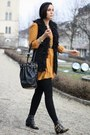 Black-studded-choies-boots-mustard-primark-dress-black-studded-chicwish-bag