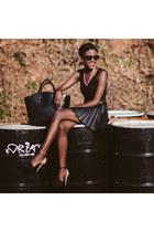 pleated H&M skirt - Zara heels