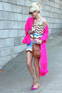 Missoni-dress-vintage-scarf-karen-walker-sunglasses-zara-flats