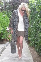 Zara jacket - H&M blouse - Forever 21 skirt - YSL purse - Forever 21 sweater - p