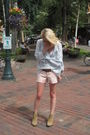 Elizabeth-james-shoes-old-navy-shorts-banana-republic-heritage-blouse-burb