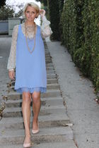 Luella blouse - Forever 21 dress - Pour La Victoire shoes