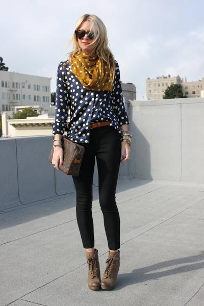 madewell scarf - Luxury Rebel boots - Equipment blouse - Jcrew pants