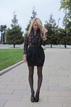 Ralph Lauren Collection blouse - H&amp;M skirt - H&amp;M stockings - Jessica Simpson sho