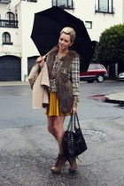 Luxury Rebel boots - Jcrew jacket - Chanel bag - Urban Outfitters skirt