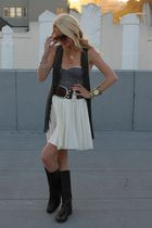Leyendecker vest - Jcrew boots - Forever 21 top - H&M skirt