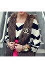 Dvf-blouse-rachel-roy-skirt-rachel-roy-vest-banana-republic-heels-chanel