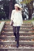 Nyla shoes - Vintage LV purse - H&M shorts - luluscom blouse