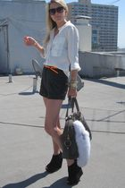 Forever21 shorts - Topshop shoes - YSL bag - Gap blouse