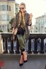 Kenya-t-blazer-karen-walker-sunglasses-zara-heels-rachel-roy-romper