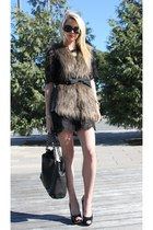 rachel roy vest - Chanel bag - Zara shoes - BR dress