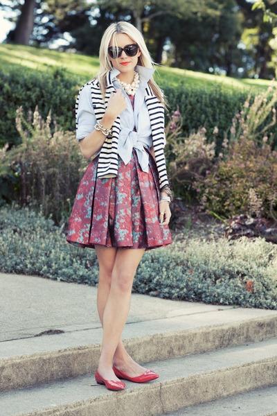 Saint James sweater - BB Dakota dress - Karen Walker sunglasses