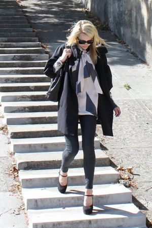 Stella McCartney blouse - Forever 21 shoes - BDG jeans - banana republic jacket