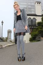 Mod Cloth blazer - Forever 21 skirt - madewell stockings - Jessica Simpson shoes