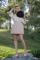 Forever 21 skirt - bcbg runway blouse - Pour La Victoire shoes - Michael Kors ac