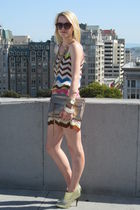 Missoni dress - Rebecca Minkoff purse - Old Navy sunglasses - Giuseppe Zanotti s