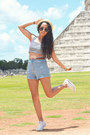 Sky-blue-high-waisted-american-apparel-shorts