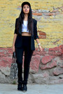 Black-dc-hat-black-romwe-leggings-black-zara-blazer-black-coach-bag
