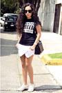 Black-leather-zara-bag-white-skort-zara-shorts