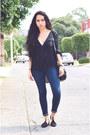 Navy-skinny-zara-jeans-black-black-mango-blouse-black-flats-zara-flats