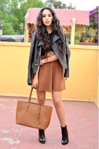 black ankle boots Zara boots - black leather Zara jacket